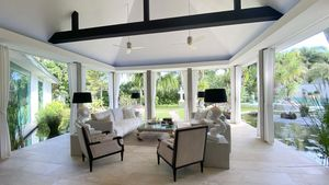 A beautiful lounge area with views over your gardens