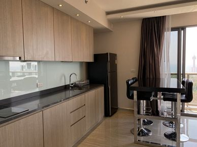 A closer look to the generous kitchenette