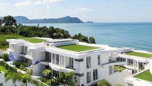 A glimpse across the beachfront estate