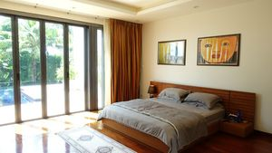 A glimpse of the master bedroom