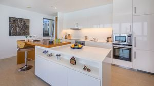 A high-end kitchen with all amenities