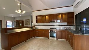 A large and well-equipped kitchen