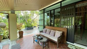 A large covered terrace providing lovely views