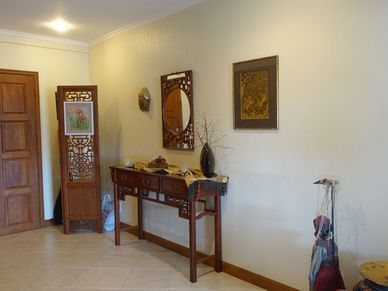 A roomy reception area