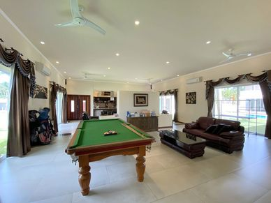 A snooker table is there as well