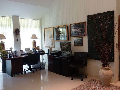 A spacious home office