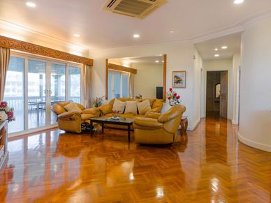 A spacious living-room