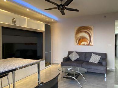 After the sunsets, enjoy a the 75 Inch flatscreen TV