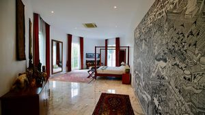 All bedroom floors in the main building are covered by Italian marble