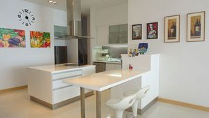 An impressive, fully fitted kitchen