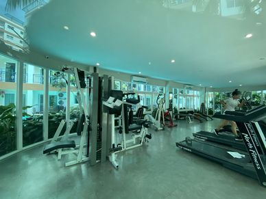 An impressive gym is at your disposition