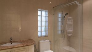 Another bathroom with shower
