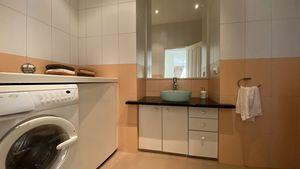 Bathroom with a washing-machine