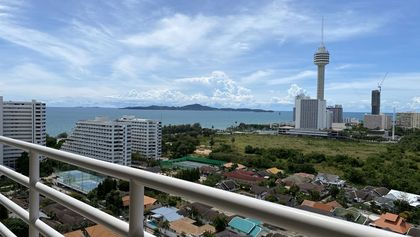 Beautiful views across greenery and the sea
