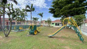 Children playground a this centrally located village