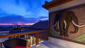 Enjoy beautiful sunsets from your own roof top