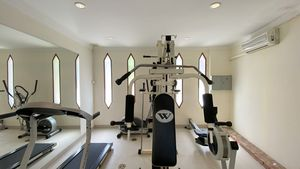 Even a private gym is there