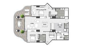 Floorplan of this sub-penthouse