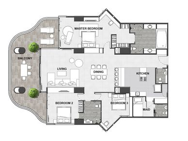 Floorplan of this sub-penthouse