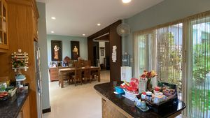 From the kitchen to the dining-area
