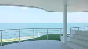 Gorgeous views wherever you are - the terrace with the steps to the private pool
