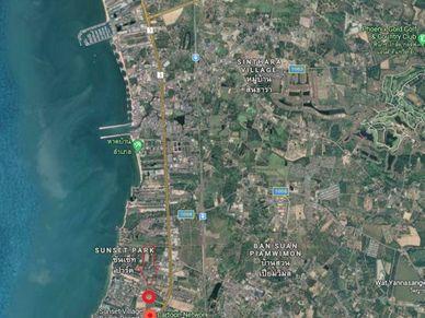 Highway 7, Ocean-Marina Yacht club seen on top