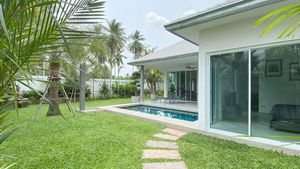 House, pool and garden