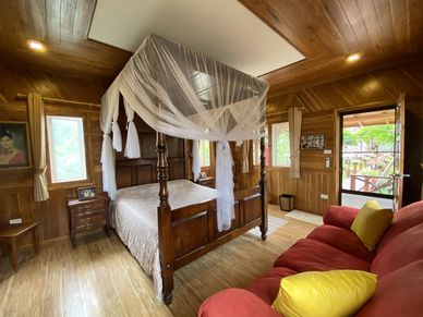 Inside the Teak-bungalow