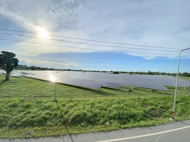 Just 200 meters away - the local solar farm