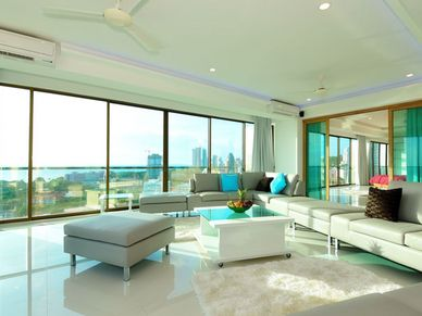 Just part of the open-space living-area