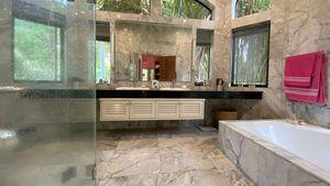 Kind of a marble jungle bathroom