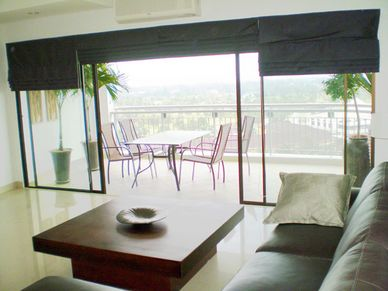 A very generous balcony offering panoramic views