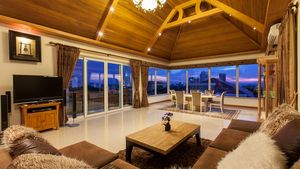 Living lounge area on the top floor