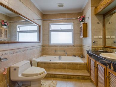 Lovely master-bathroom with jacuzzi tub