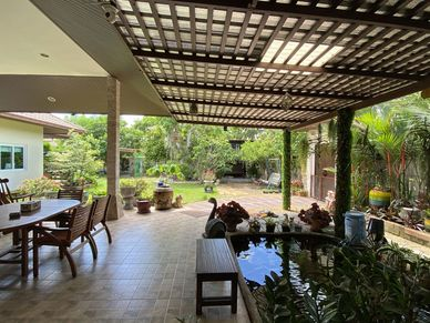 Lush covered outdoor space