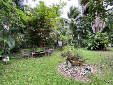 Lush gardens with lovely seating places