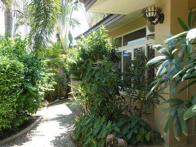 Lush walkways around the property