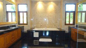 Marble from floor to ceiling - all bathrooms are top luxurious