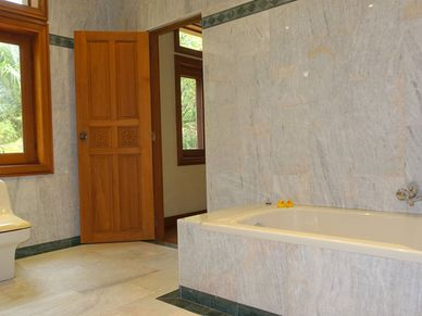 Marble throughout - the master bathroom
