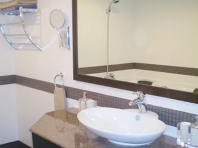 The master bathroom, nice and clean
