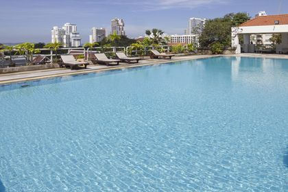 Newly renovated the crystal clear communal pool