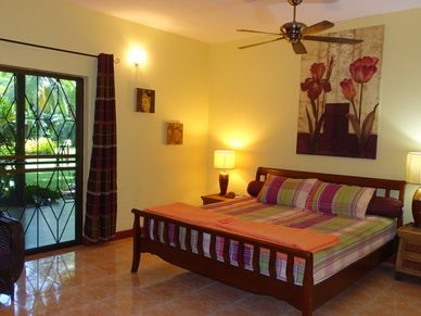 One of nine bedrooms of the resort