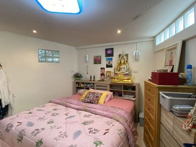 One of the guest-cottages bedroom