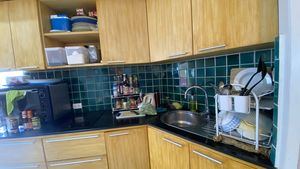 Part of the kitchenette