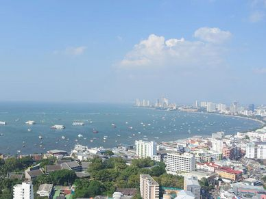 Pattaya bay from the condos balcony