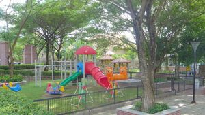 Public playground and garden area