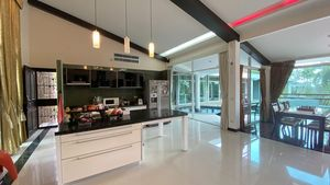 Spacious kitchen and living-space