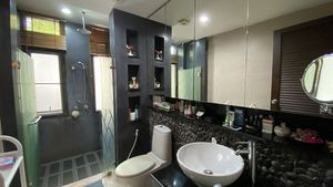 The 3 bathrooms are chic and spacious