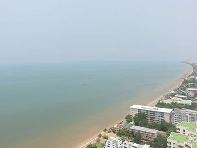 The Jomtien skyline from the balcony