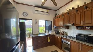 The air conditioned kitchen in a separate room